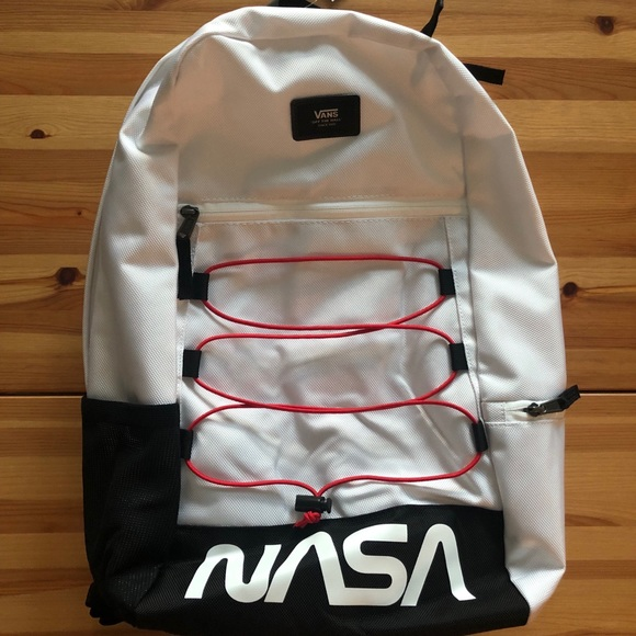 "Vans x NASA ""Space Voyager"" Backpack Bag White NWT"